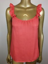 REVIEW Tank Coral CAMI Blouse Top Shirt TANK SUIT Career Formal Dressy 6  XS S