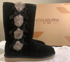 KOOLABURRA BY UGG, VICTORIA TALL 1015875 BLACK, SIZE 10 WOMAN'S BOOTS (BRAND NEW