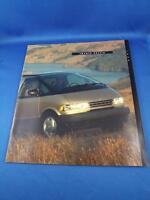 TOYOTA PREVIA CAR DEALER SALES BROCHURE 1994 INTERIOR EXTERIOR COLORS OPTIONS
