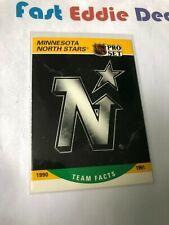 PRO SET NHL HOCKEY 1990 MINNESOTA NORTH STARS TEAM FACTS CARD 574 EXCELLENT