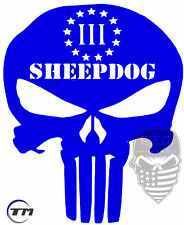 SHEEPDOG,Punisher,3%,2A,Military,Militia,DTOM,Molon Labe,Sheep Dog,vinyl decal