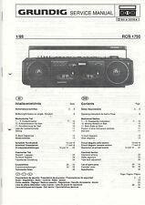 Grundig Service Anleitung Manual RCR 1750  B790