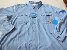 e1045f08dc0 Columbia Pfg Distant Water Omni Shade Vented Fishing Shirt 2xt Blue
