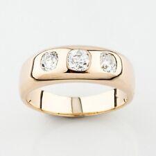 14k Oro Amarillo Hombres 1.00 Quilates Diamante Compromiso/ALIANZA Size 10