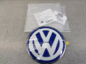 Genuine Volkswagen VW Beetle Front Bonnet Badge1999>2005 Blue&White 1C085361739A