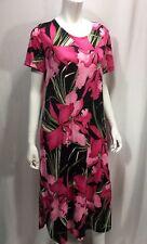 Hawaiian Dress Royal Creations Medium Large Made In Hawaii Pink Floral Mid Calf