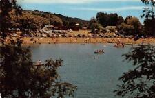 HEALDSBURG, CA  California    MEMORIAL BEACH-Cars & Swimmers   c1950's Postcard