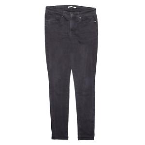 LEVI'S 711 Black Denim Slim Skinny Jeans Womens W30 L32