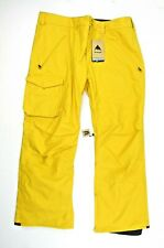 New Burton Mens Covert Insulated Pants 131601 Golden Rod Yellow Sz 2XL Ski Snow