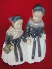 1316 VINTAGE ROYAL COPENHAGEN FIGURINE 2 AMAGER GIRLS