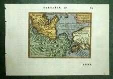 Carte de TARTARIE MONGOLIE SIBERIE Abraham ORTELIUS 1601 Theatrum Orbis terrarum