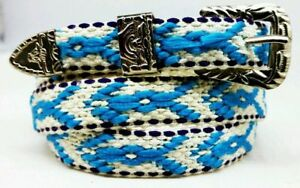 Western HATBAND with Buckle Set Multi-Colored List#4 Cowboy Cowgirl Hat Band