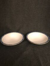 Royal Worcester Medici Blue Set Of 2 Cereal Soup Bowls England China