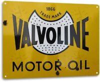 Valvoline Motor Oil Garage Shop Retro Vintage Rustic Wall Decor Metal Tin Sign