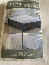 "Meila Home Textile Home Basics Queen 16"" Drop Ivory Ruffled Bed Skirt"