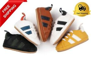 Baby Boy Girl Hard Sole Shoes Spring Sneakers Toddler Newborn Shoes First Walker