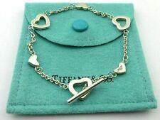TIFFANY & CO Sterling Silver Heart Link Toggle Bracelet