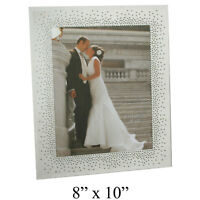Wedding Mirror Glass Photo Picture Frame Starburst Crystals Gift Frames 8x10