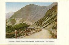 Stampa antica PASSO dello STELVIO Galleria Baraccone Valtellina Sondrio 1909