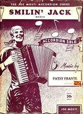 Smilin' Jack Patsy Frante 1944 Vintage Accordion Sheet Music