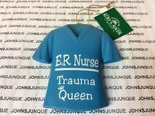E.R. NURSE TRAMA QUEEN ORNAMENT CERAMIC NEW WITH TAG SHIPS NOW!!