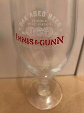 4 new innis & gunn pub bar home beer stemmed goblet half pint glass man cave *