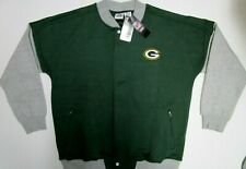 GREEN BAY PACKERS NFL MENS FULL ZIPP BUTTON FRONT JACKET NEW BIG AND TALL