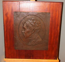 Emil Zettler Relief Bronze Plaque Portrait of the Gentleman 1938 Listed Sculptor
