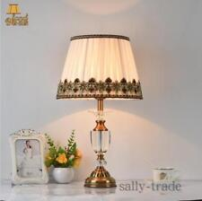 Classic American Bedroom Table Light Foyer European Crystal Bedside Table Lamp