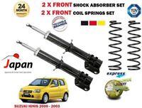 Per Suzuki Ignis 1.3+ 4WD 2000-2003 2x Ammortizzatore Ant Set + Bobina Molle