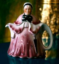 More details for little old lady pink  antique teapot by tony wood staffordshire 1935's