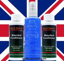 Blue Magic Waterbed Vinyl Cleaner 250ml and 2 x Conditioner 118ml