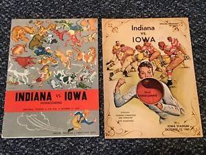 2-Different University of Iowa vs Indiana Football Programs from 1950 & 1963