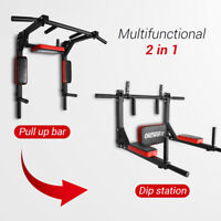 OneTwoFit Dip Station Chin Up Bar Power Tower Pull Push Home Gym Fitness Core126