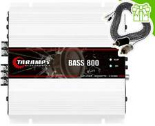 Taramps BASS 800 2 Ohm Amplifier 800 Watts + 16 'RCA Cable - Consegna in 3...