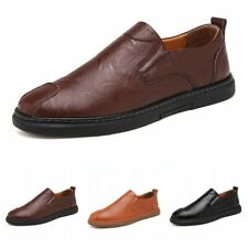 Men Casual Loafers Faux Leather Slip On Breathable Moccasin Lazy Driving Shoes L