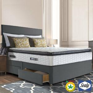 Symphony Posturetech Double Divan Bed & Memory Mattress Charcoal, 135X190x69 Cm