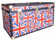 "Union Jack cloth, Traditional Mossman 36"" Steamer Storage Trunk **Discontinued**"