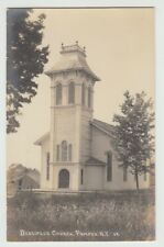 Real Photo Postcard Pompey, New York Disciple's Church (Mispelled Desciple's)