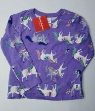 NWT Hanna Andersson Toddler Girl's Purple Pony Long Sleeve Shirt Size 100 4t 4