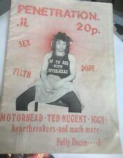 PENETRATION ~ 1977 punk fanzine, No 11. Motorhead, Heartbreakers, Iggy Pop. NM.