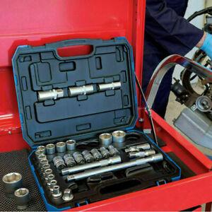 Draper 16363 1/2in Sq Dr MM/AF Combined Socket Set 33 Piece