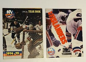 1974-75 1976-77 NHL Hockey New York Islanders Official Yearbooks Lot