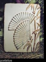 NEW plaster,concrete oriental bamboo with fans decor mold