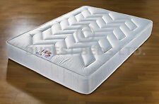 """ORTHO DAMASK MEDIUM MATTRESS 3FT 4FT6 5FT QUILTED 10"""""""