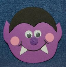 Purple Halloween Dracula, Foam Refrigerator Magnet, Made in the USA