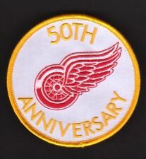 NHL DETROIT REDWINGS 50TH ANNIVERSARY PATCH VERY RARE