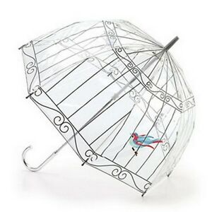 Lulu Guinness by Fulton Designer Clear Dome Umbrella in Unique Prints