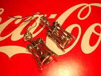 FUNKY CORKSCREW EARRINGS BOTTLE OPENER KITSCH RETRO WINE BAR NOVELTY DRINKS GIFT