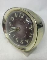 Vintage 1960's Westclox Baby Ben Wind Up Alarm Clock Gold